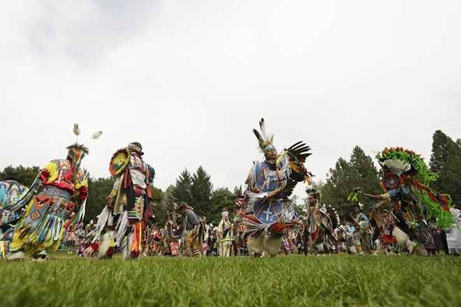 Dancers at the Gathering At The Falls Powwow in August. - YOUNG KWAK
