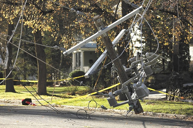 Power companies are reportedly prepping for potential outages due to today's expected windstorm. - YOUNG KWAK