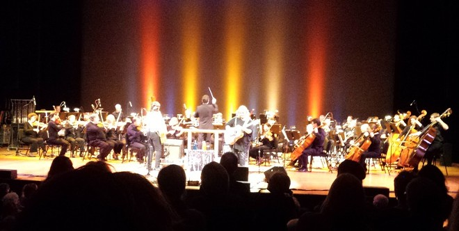People on their feet and dancing—not a typical scene at the Spokane Symphony. - DAN NAILEN