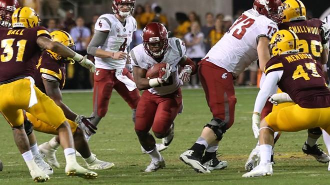 WSU running back Jamal Morrow did some damage Saturday. - WSU ATHLETICS