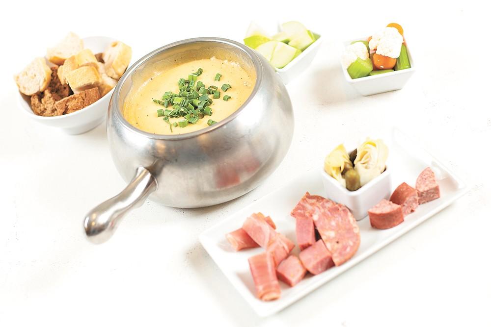 Melting Pot's fondue. - YOUNG KWAK