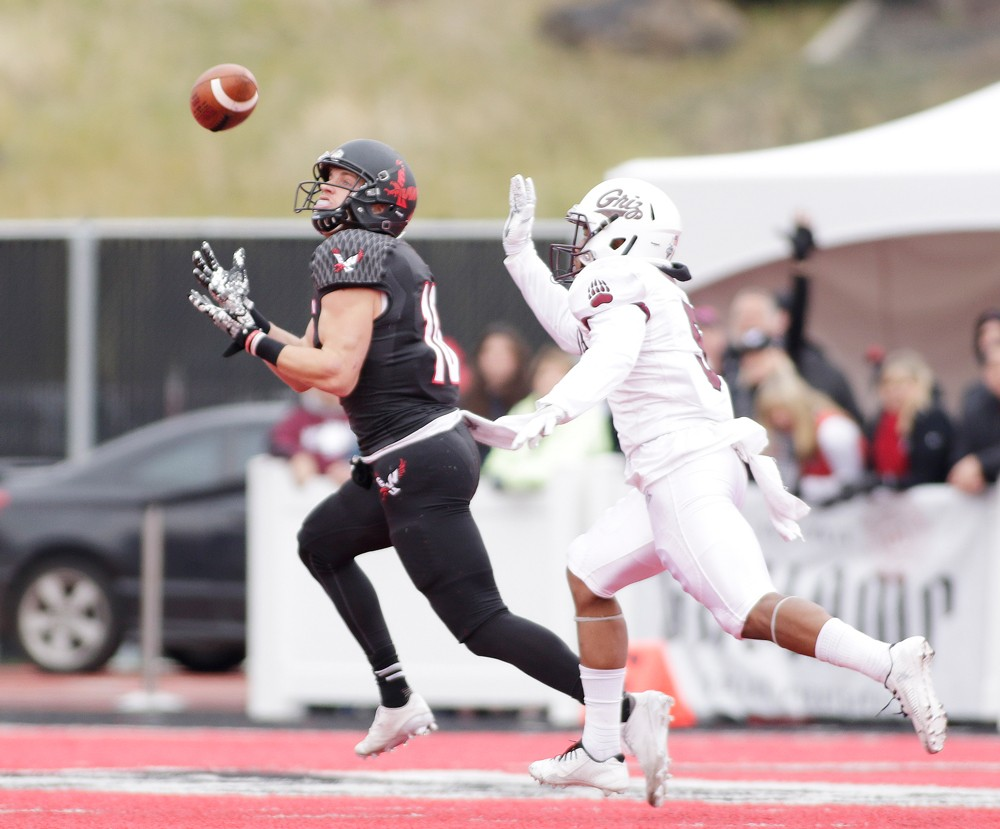 Cooper Kupp caught two touchdowns, including a 69-yarder, to help Eastern beat Montana for the third time in his career. - YOUNG KWAK