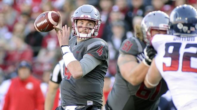 Quarterback Luke Falk tossed four TDs against Arizona. - WSU ATHLETICS