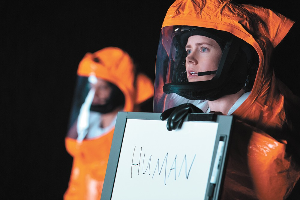 Amy Adams delivers a powerful performance as a linguist trying to communicate with extraterrestrials.
