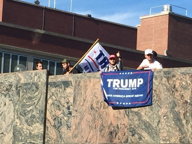 Trump supporters at WSU. - TAEHLOR CRIM
