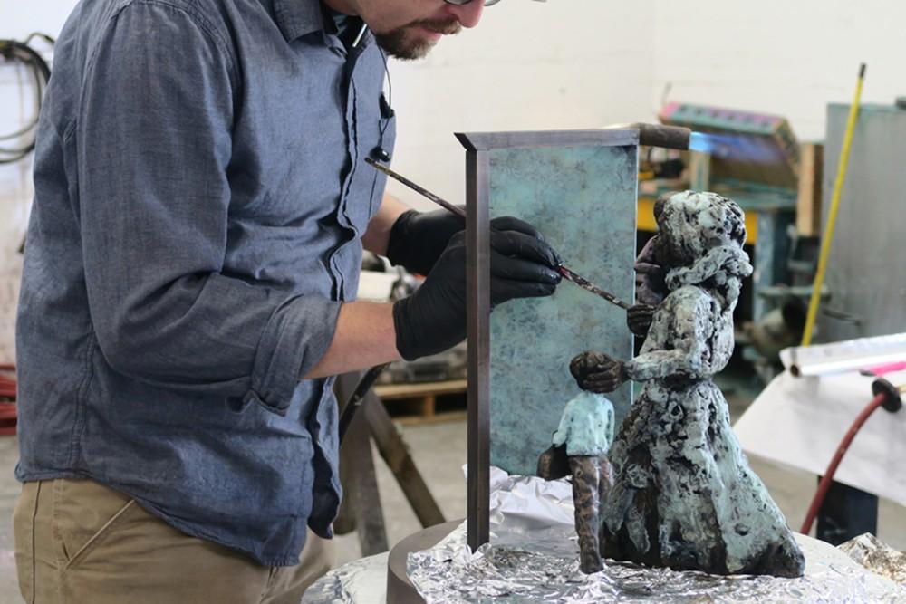 Ildiko Kalapac's sculpture is on display at the Spokane YWCA.