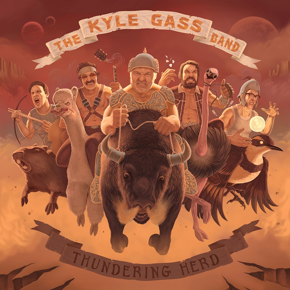 Kyle Gass (center) and his band soldier on. - WILL FUGMAN ILLUSTRATION