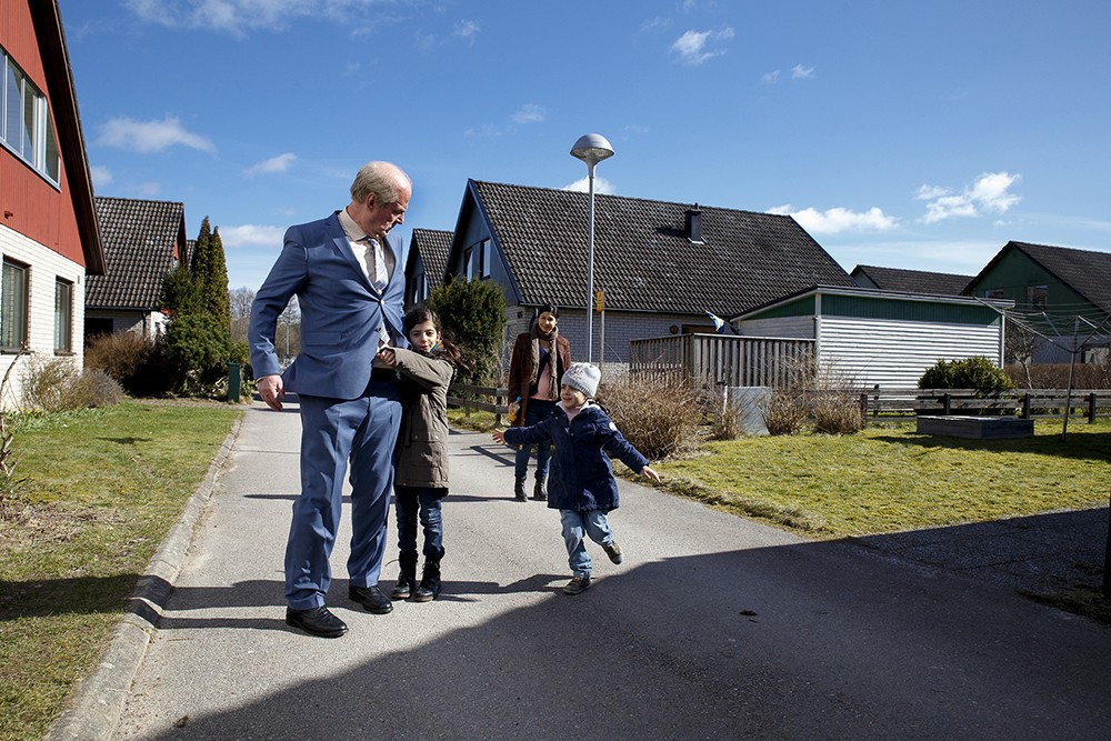 Rolf Lassgard plays the titular — and quite grumpy — character in A Man Called Ove.