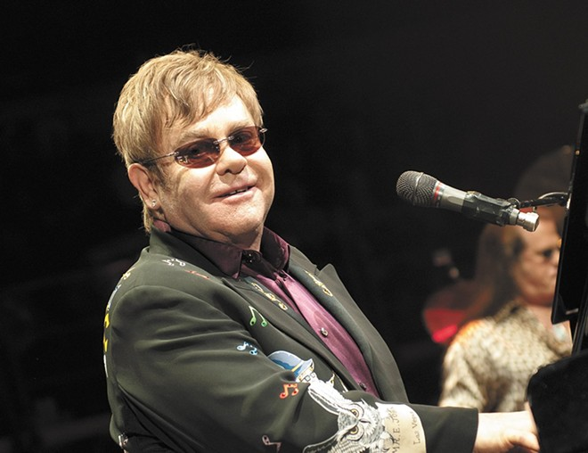Elton John at Spokane Arena in 2014 - AMY HUNTER