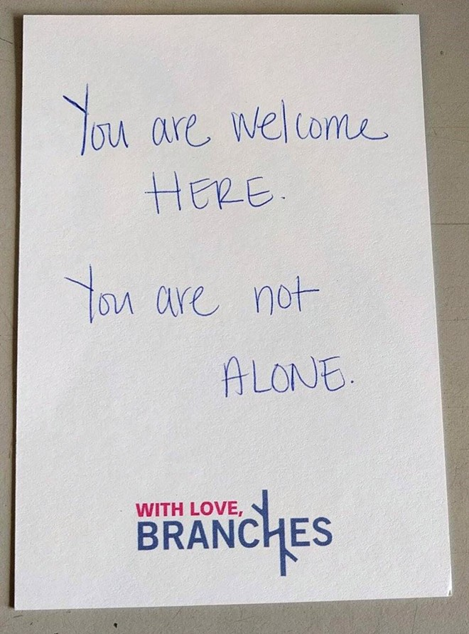 """You are not alone."""