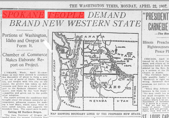 The Rep. Matt Shea proposal is not the first time some in Eastern Washington have wanted to become their own state.