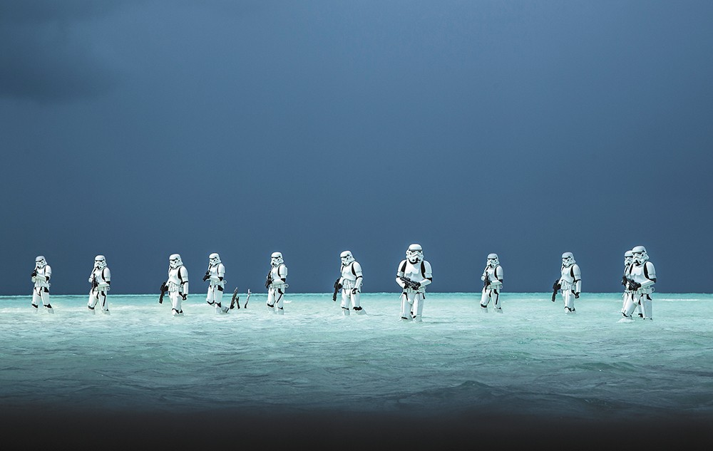 No matter what era in the Star Wars world, storm troopers always look the same.