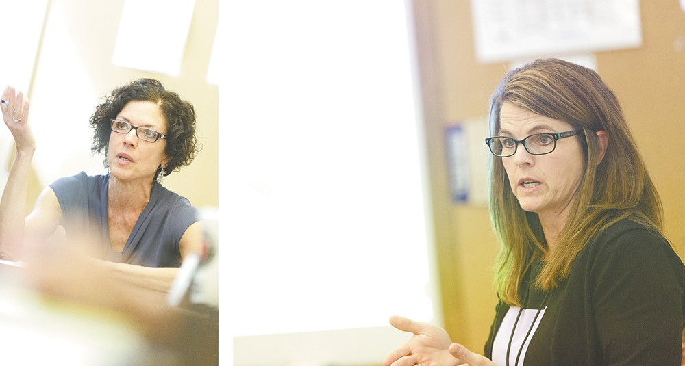 In their efforts to improve Spokane's justice system, Judge Maryann Moreno (left) and Criminal Justice Administrator Jacquie van Wormer say it's time to re-evaluate a reform program. - YOUNG KWAK