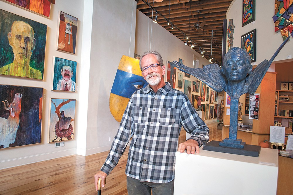The Art Spirit Gallery owner and founder Steve Gibbs passed away from ALS on New Year's Eve at age 64. - SARAH PHILP
