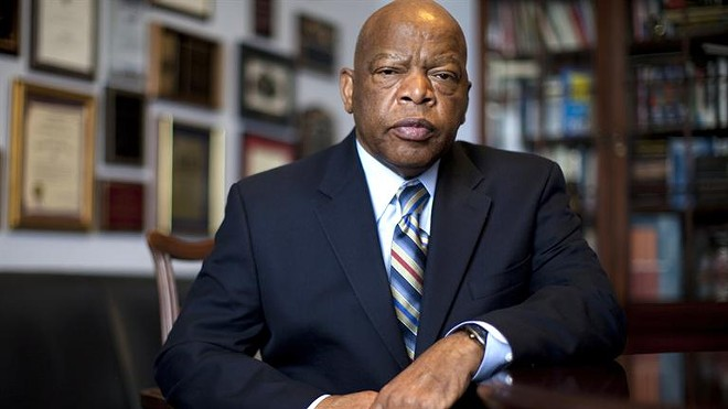 Georgia Rep. John Lewis, a civil rights hero, had beef with Trump over the weekend.