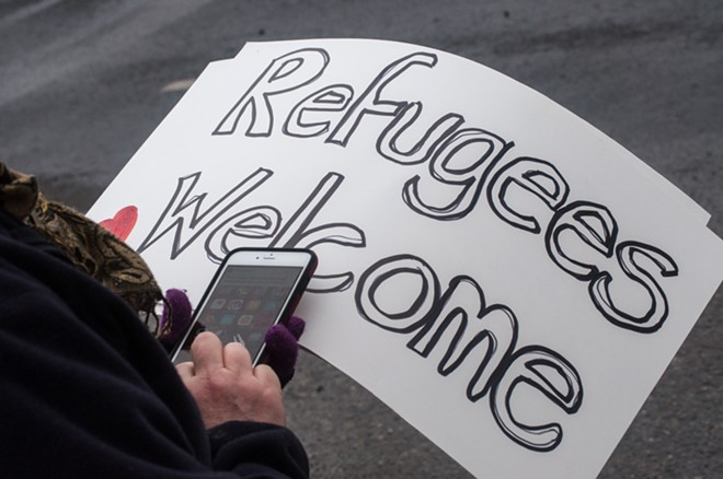 """Refugees Welcome."" - DANIEL WALTERS PHOTO"