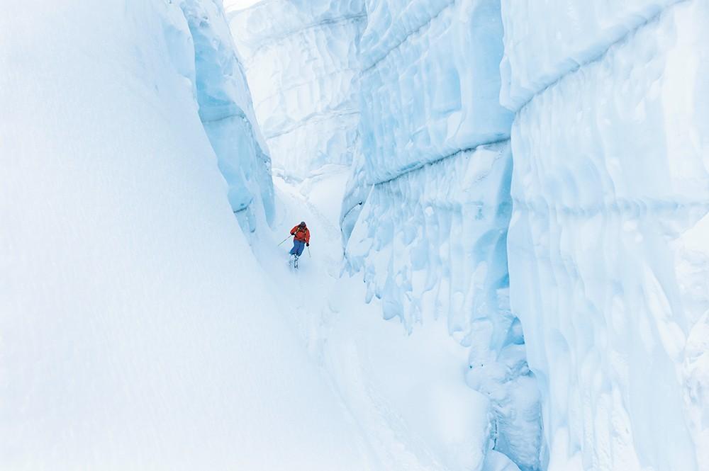 Skiing at Ice Fall Lodge in British Columbia - DOUG MARSHALL