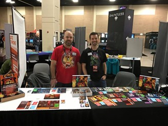 Trembley, left, and Chatellier, demoed Dice Throne at PAX South last month. - DICE THRONE