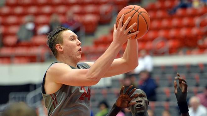 WSU's Josh Hawkinson had a big game against Utah in a losing effort. - WSU ATHLETICS