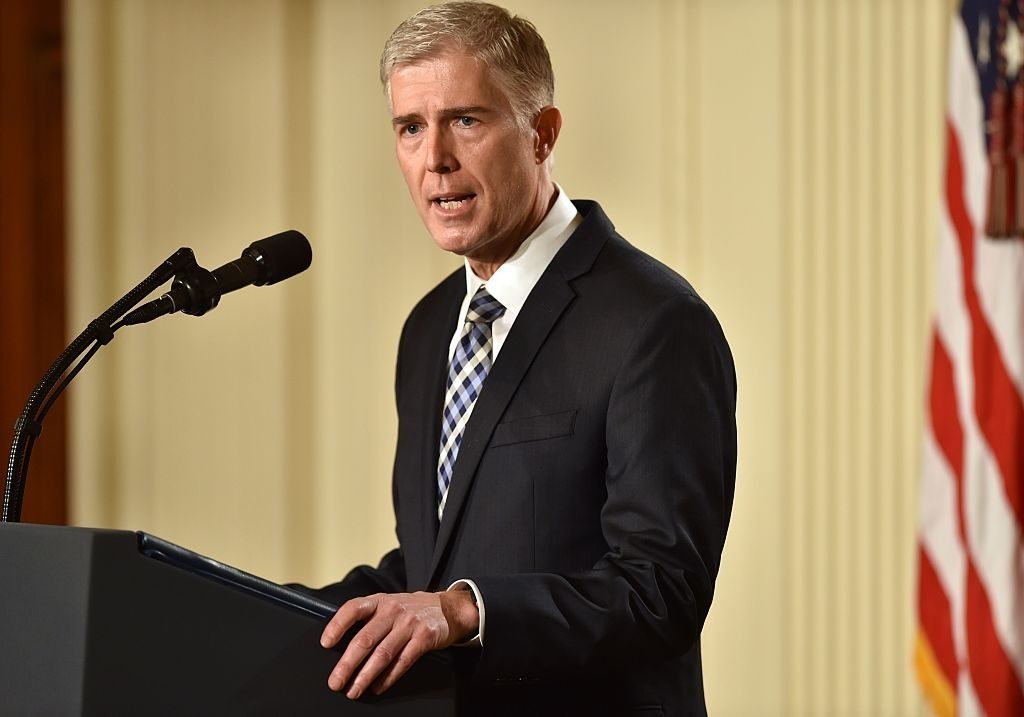 Trump's nominee for the Supreme Court, Neil Gorsuch