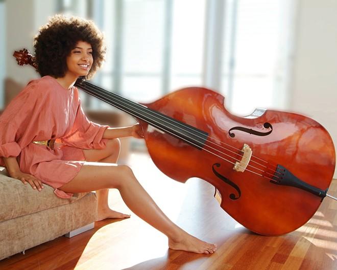 Esperanza Spalding, Grammy-winning bassist, plays at the Lionel Hampton Jazz Festival in Moscow this year.