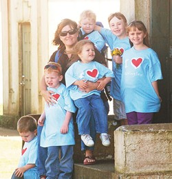 Longtime former foster parent Connie Kerbs and her children
