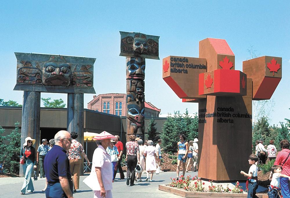 People enjoying Spokane's Expo '74.