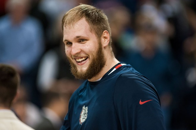 Gonzaga big man Przemek Karnowski has good reason to smile. The Zags at the No. 1 seed of the West Coast Conference tournament starting Friday in Las Vegas.