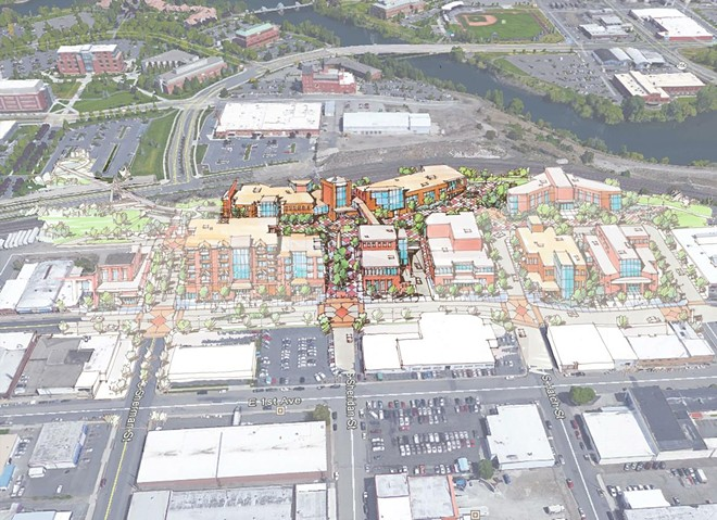 Say hello to a transformed East Sprague neighborhood (in a few years) - AVISTA RENDERING