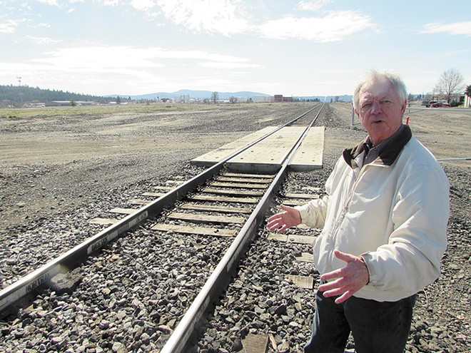 Richard Burris, of the Greater Hillyard Business Association, worried that an altered North Spokane Corridor route would spell doom for Market Street businesses. - DANIEL WALTERS PHOTO