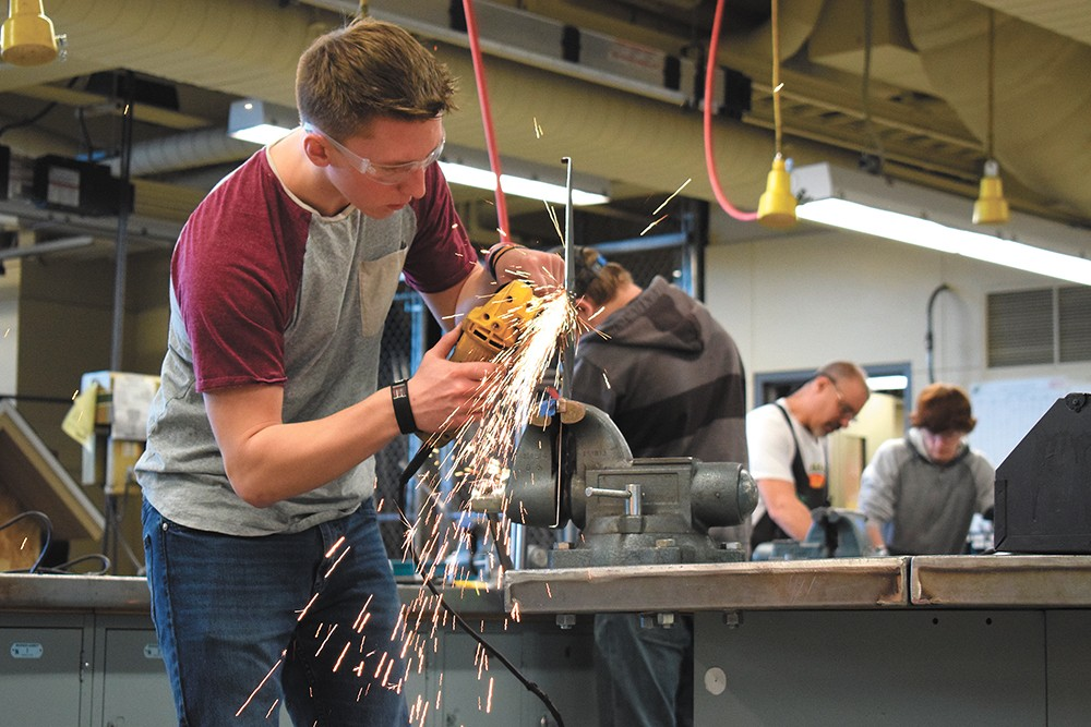 Many students, like Ben Meredith, prefer working with their hands. - WILSON CRISCIONE