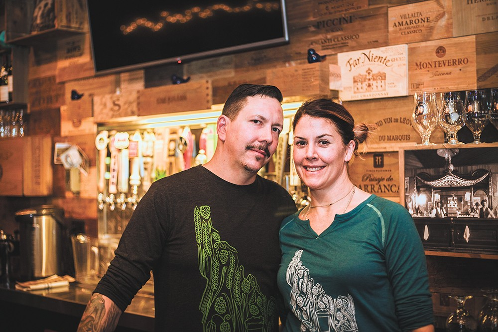 Owners Viljo and Autumn Basso inside their Coeur d'Alene bistro. - DAN COUILLARD