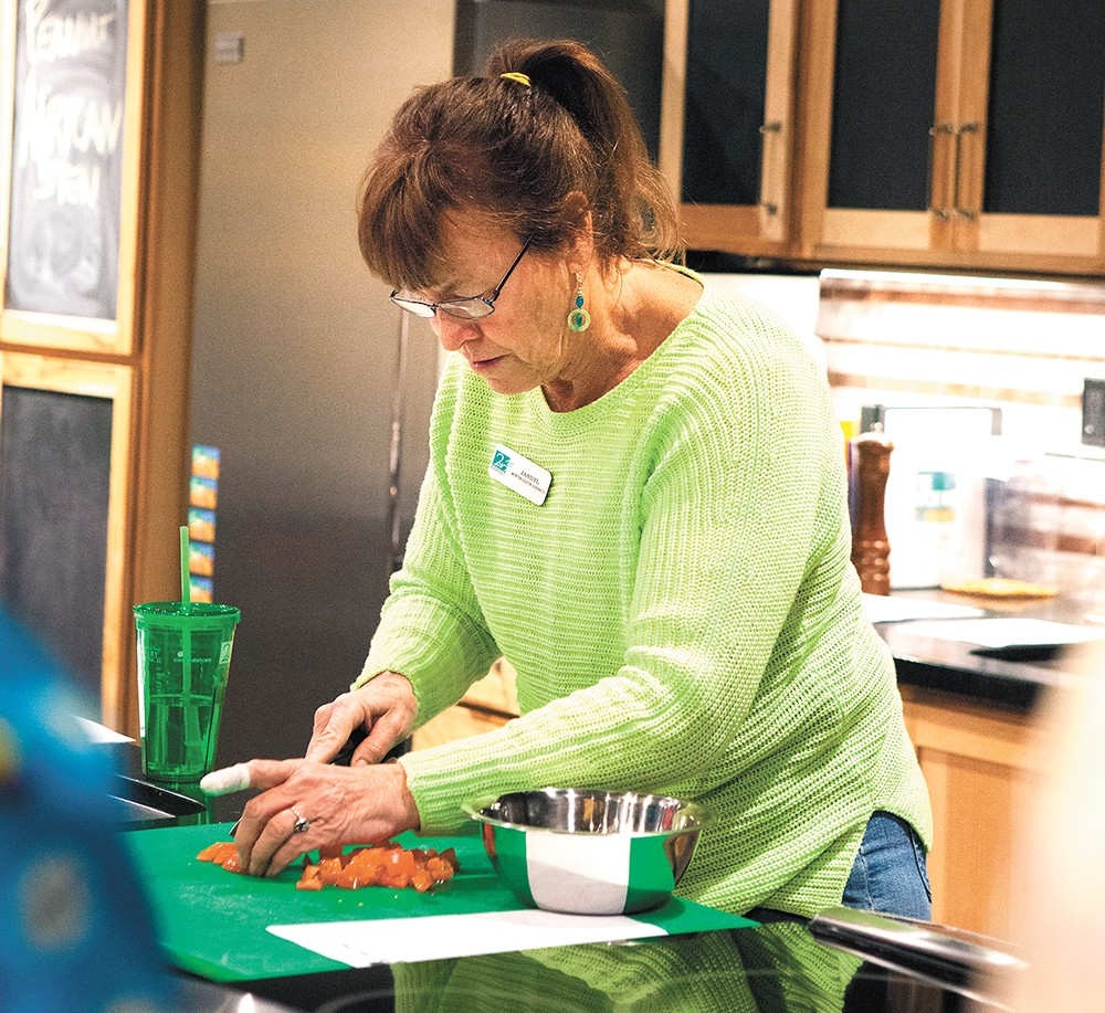 The Kitchen at Second Harvest, managed by Jandyl Doak, is used to teach food bank recipients healthy cooking skills.