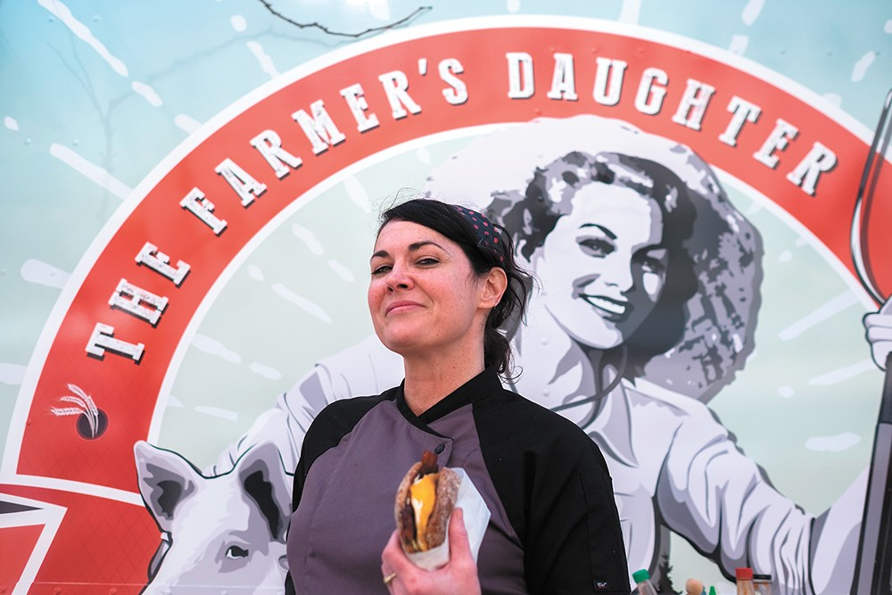 Food truck chef-owner Jillian Gay sources some ingredients from her father's Deer Park farm. - HECTOR AIZON