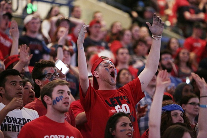 Gonzaga fans were justifiably angry after last night's loss. - YOUNG KWAK