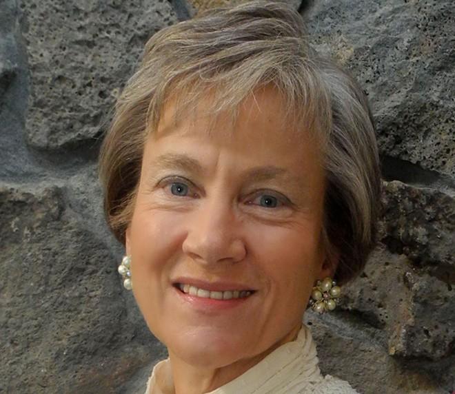 Nance Van Winckel reads on Thursday, April 20, at the Lincoln Center.