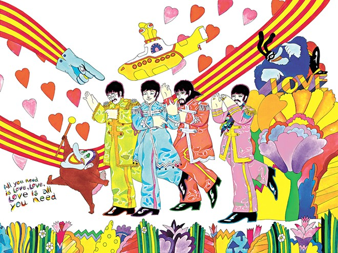 Beatles fans can purchase original works by the Yellow Submarine animator at two local art shows. - RON CAMPBELL ILLUSTRATION