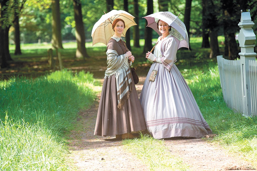 Cynthia Nixon plays Emily Dickinson and Jennifer Ehle is her sister Vinnie in Terence Davies' beautiful biopic A Quiet Passion.