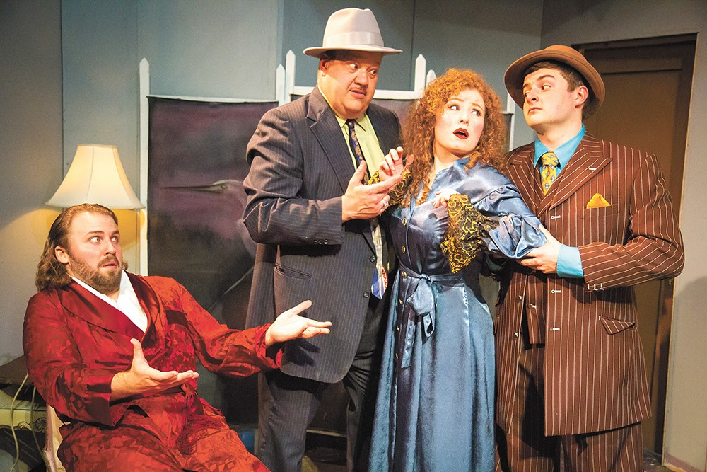 FROM LEFT: Daniel McKeever, Jhon Goodwin, Tami Knoell and Grady O'Shea in Kiss Me, Kate. - JEFF FERGUSON