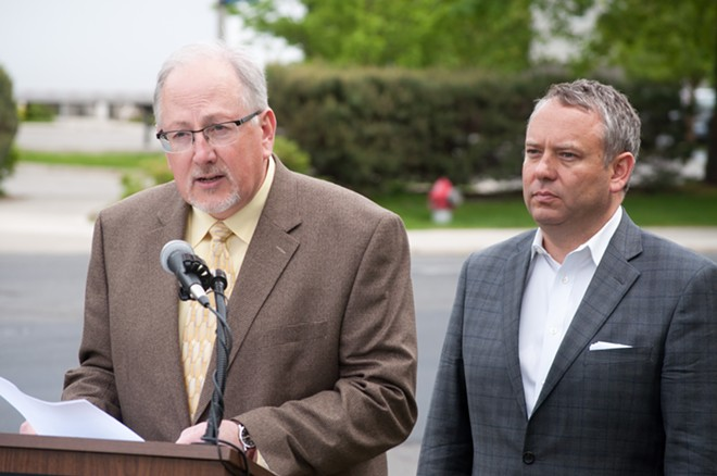 Spokane Streets Director Gary Kaesemeyer and Mayor David Condon are aware of the long road that lies before them. - FORREST HOLT PHOTO