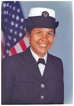 Lori SiJohn in her Navy uniform