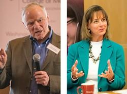Arivale's Leroy Hood and Jennifer Lovejoy explain the company's genetic testing program in Spokane.