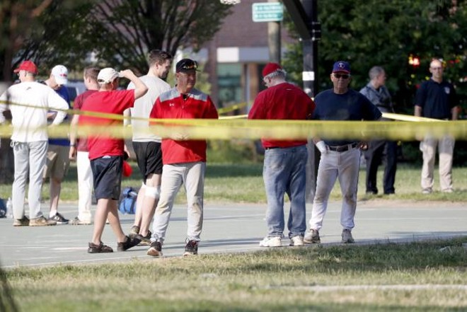 At least five people were injured early this morning in Arlington, Virginia, when a gunman opened fire on a group of Republican congressmen and staffers practicing for a baseball game.