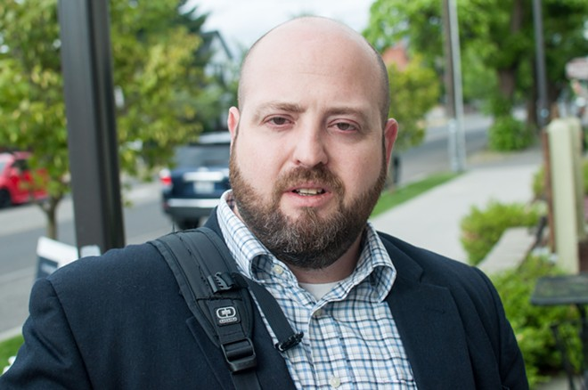 City Council candidate Brian Burrow is looking to unseat Candace Mumm in District 3 this November. - DANIEL WALTERS PHOTO