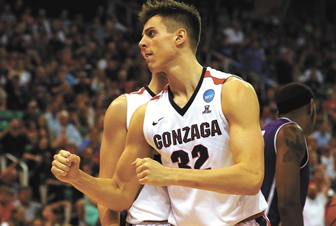 Zach Collins was the No. 10 pick in Thursday night's NBA draft, going from Sacramento to Portland in a trade. - GU ATHLETICS