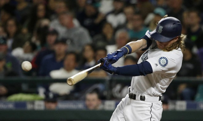 Rookie outfielder Ben Gamel, hitting .346, has been a pleasant surprise for the Mariners this season.