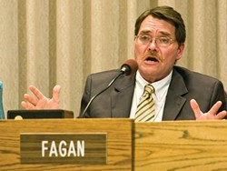 City Councilmember Mike Fagan supports Ahern's initiative and new ad regulations.