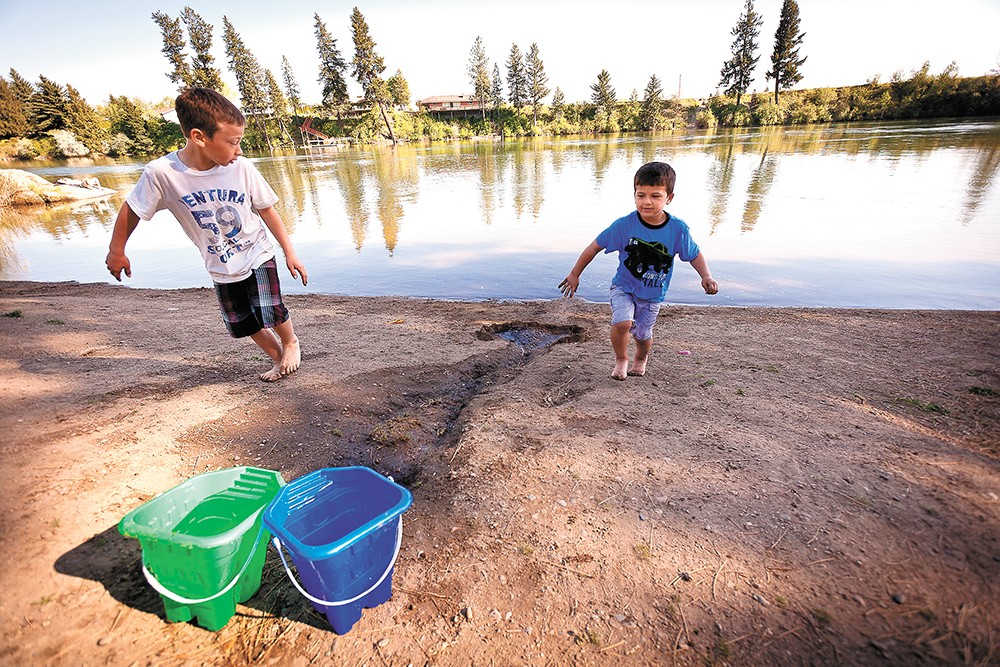 Spokane Valley's Boulder Beach is right across from Camp Sekani. - MIKE MCCALL