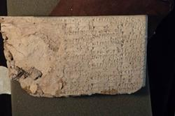A cuneiform tablet smuggled into the country by Hobby Lobby. - U.S. DEPARTMENT OF JUSTICE