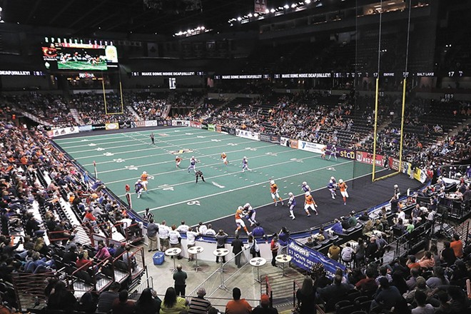 The Empire's demise likely means the end of indoor football in Spokane, at least for now. - YOUNG KWAK PHOTO